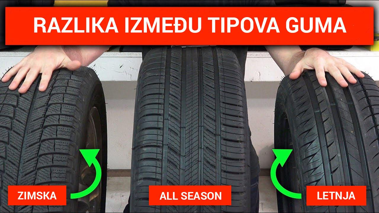 Razlike između tipova guma